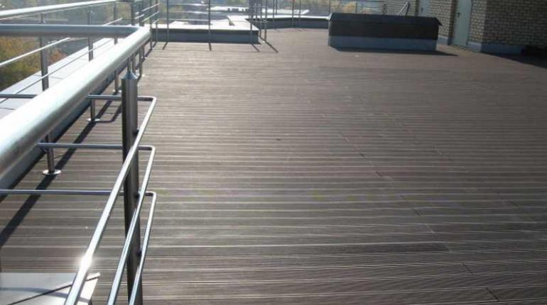 Устройство террасы на крыше построек